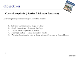 2 2 objectives