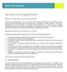 Simple Service Agreement Catering Service Level Agreement Template