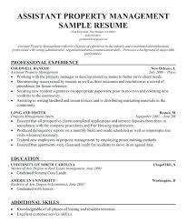 Property Manager Sample Resume Amazing Property Management Resume Job Description For R Bitwrkco