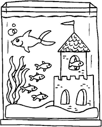 Small Picture Pictures Fish Tank Coloring Page 60 In Coloring Print with Fish
