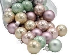 45 Weihnachtskugeln Christbaumkugeln Mint Rosa Creme