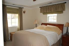 interior custom window treatments for small rooms brown silk valance blackpolished steel curtain rod master