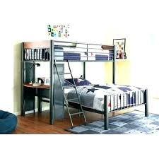 metal bunk bed with desk full loft underneath59 metal