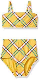 Hobie Big Girls Bandeau Bikini Swimsuit Top And Hi Waist Hipster Bottom Set