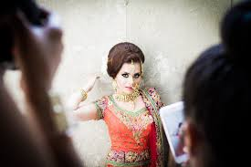 indian bridal hair and makeup start to finish with pink orchid studio you