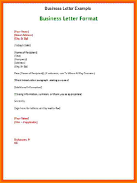 example business letter business letter example as business letter format with sender name and current date