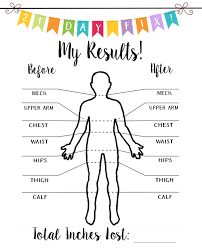 Weight Loss Measurement Tracker Pin On 21 Day Fix