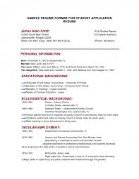 Resume Template For College Cool Resume Application Template College Application Resume Template