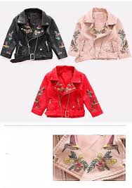kids girls leather jackets and coats 2018 spring girls faux leather coat children motorcycle jacket girls