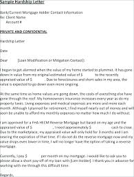 mortgage modification hardship letter hardship letter for mortgage modification sample format