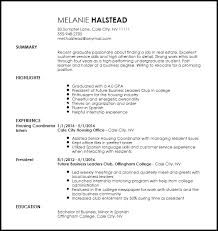 Free Entry Level Apartment Leasing Consultant Resume Template