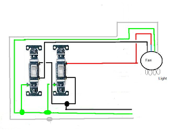 ceiling fan with light kit two switches on wall don't know if Wiring a Light Fan Combination full size image