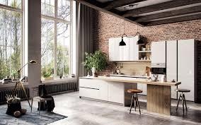 Exposed Brick Kitchen Scandinavian Kitchens Ideas Inspiration