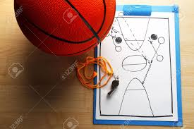 Wooden Basketball Game Scheme Basketball Game On Sheet Of Paper With Basketball On Wooden 59