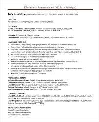 Principal Resume Template Principal Resume Template 5 Free Word Pdf  Document Downloads Printable
