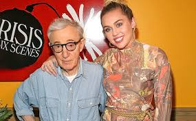 miley cyrus talks working woody allen com rob kim getty images