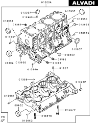 Mitsubishi engine cylinder block
