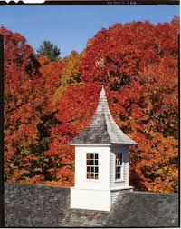 View of barn cupola in autumn, Barrett House, New Ipswich, N.H. | Historic  New England