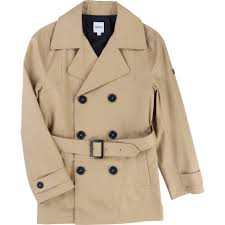boss boys natural belted trench coat