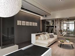... Gray Living Room Ideas Accent Wall White Sofa Round Coffee Table Dark Gray  Living Room Walls ...
