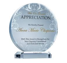 Plaques And Awards Wording Samples