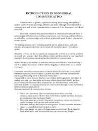 nonverbal communication essays essay on nonverbal communication in classroom nonverbal