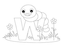 Alphabet Coloring Pages Letter W