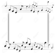 Paper Template With Music Notes In Background Illustration Royalty