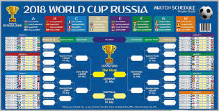 Clearance 2018 World Cup Russia Ready To Stick Poster Russia World Cup 2018 Ready To Display Russia Game Wallchart Comes With Tape For Easy Poster