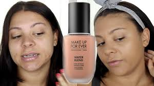 mufe water blend foundation first impression review y415 oily bo skin you