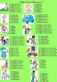 best learn german language sprechen deutsch images on daily routines in german