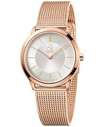 rose gold rose gold macy s calvin klein minimal men s swiss rose gold tone pvd stainless steel mesh bracelet watch 35mm