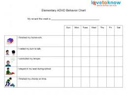adhd behavior charts behavior charts for elementary students adhd