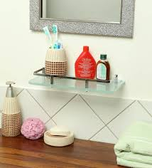 glass shelf in chrome finish l 12 w 5 h 0 8 inches by joyo cera bathroom shelves bath fixtures bath laundry pepperfry