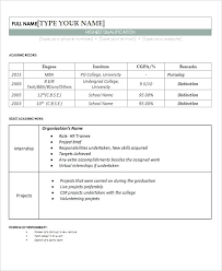 Sample Resume For Freshers Sample Hr Resume Download Curriculum