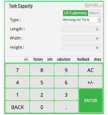 Tank Capacity Calculator Work With Steps