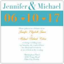 orange and turquoise wedding invitations. modern turquoise and orange wedding invitations