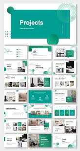 Powerpoint Design Templates Download Blue Business Project Report Presentation Template