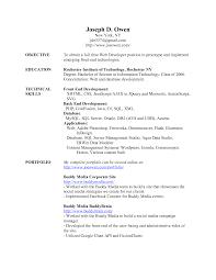 Sample Resume For Web Designer Fresher Resume Format For Php Developer Fresher Download Unique Stanford 1