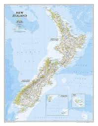 new zealand map from national geographic countries wall maps national geographic maps