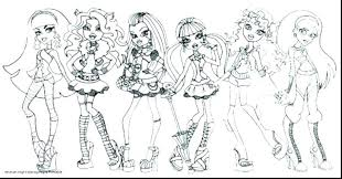 Coloring Pages Monster High Coloring Sheets Pages To Print Costume