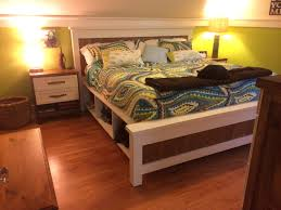 farmhouse storage bed. Unique Storage Ana White  King Size Farmhouse Storage Bed From 2 PLans  DIY  Projects Intended Bed S