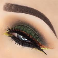 brown eye makeup design in lash