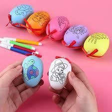 toys for children cartoon painted painted eggshell toys kids educational children s creative handmade diy easter egg handmade gag gifts for