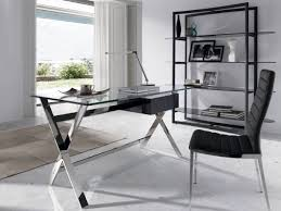modern glass office desk. Porto Lujo Modern Glass Office Desk With Black Semi Gloss Drawer I