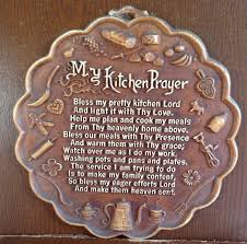Kitchen Wall Hanging Vintage My Kitchen Prayer Plaque Wall Hanging Mothers