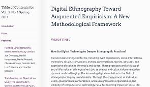 digital ethnography  digital ethnography article in jdh bywendy hsu