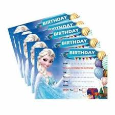 Frozen Birthday Invitations Details About X24 Frozen Birthday Invitation 250gsm Cards Boys Girls Kids Party