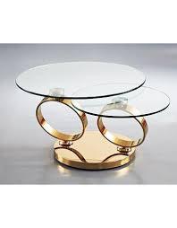 creative home decor rings swivel coffee table gold