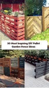 pallet garden fence min